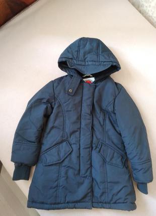 Детская куртка-аляска на мальчика с капюшоном, теплая,зимняя