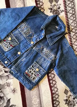Джинсовый пиджак унисекс для мальчика для девочки