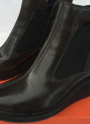 Clarks кож. ботинки р.37, 37.5, 38, 38.5, 39, 39.5, 40, 41, 41.5