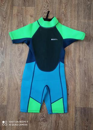 Гидрокостюм детский короткий гідрокостюм для дайвінгу для хлопчика