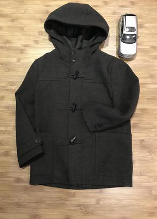 Крутое демисезонное пальто f&f 7-8лет