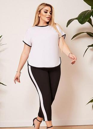Мега батал !!! женские черные брюки большого размера 60-62 esmara германия