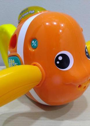 Интерактивная поющая рыбка для купания vtech. свет, звук, эффекты.  -пускает фонтанчики. -музыка, за