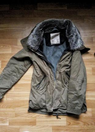 Тёплая куртка pull&bear