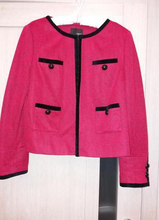 Укороченный жакет пиджак в стиле шанель
