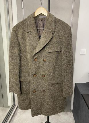 Винтажное кашемировое пальто из натуральной шерсти горного козла
