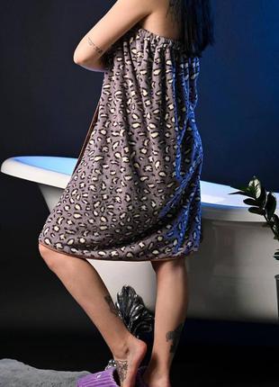 Полотенце в баню, сауну. халат на липучке