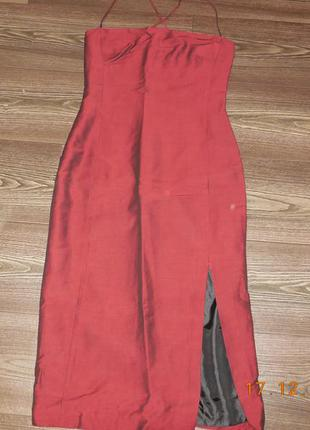 Платье бордо  mng.