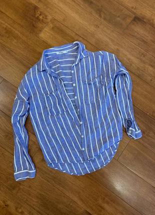 Лёгкая рубашка блузка в полоску colin's