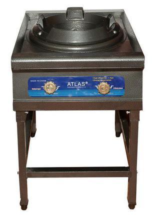 Плита газовая с чугунным таганком atlas 30 квт (с пьезорозжигом) 70405
