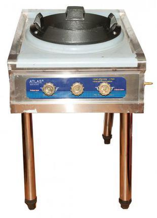 Газовая плита с чугунным таганком atlas 35 квт (с пьезорозжигом) 70504