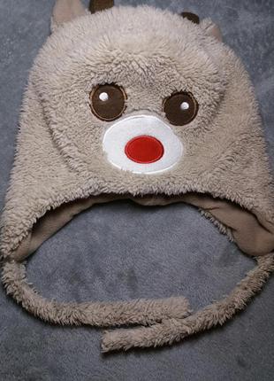 Теплая флисовая шапочка