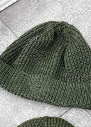 Мужская хаки шапка бини
