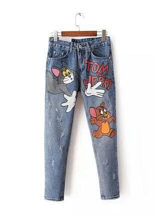 Крутые джинсы бойфренды