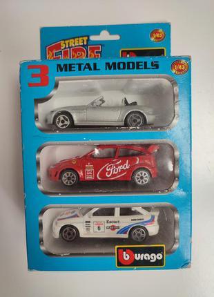 Машинки модельні металеві 1/43 burago