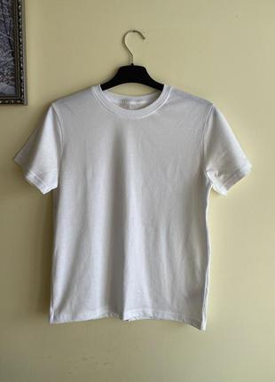 Біла базова футболка, белая футболка на 10-11 лет george