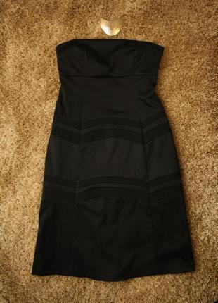 Вечернее коктейльное платье бюстье, качественное, плотное, к низу расширено