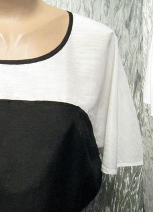 Черно-белая блуза с красивыми рукавами
