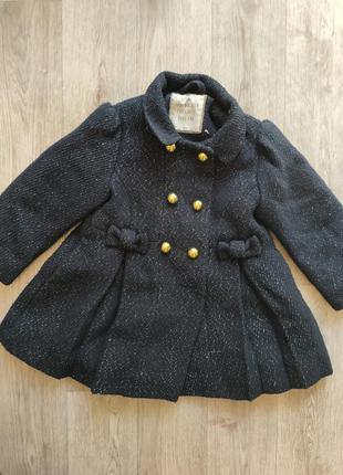 Осеннее весеннее пальто на девочку 2 3 4 года