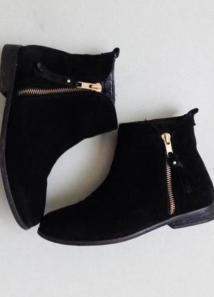 Замшевые ботиночки,боты,полусапожки на низком каблуке на замочке