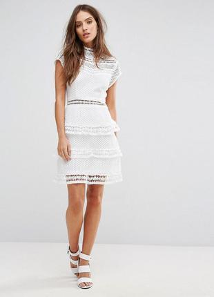 Кружевное нарядное платье в стиле  self portait