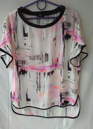 Фуболка-блузка f&f. размер 12 (40)