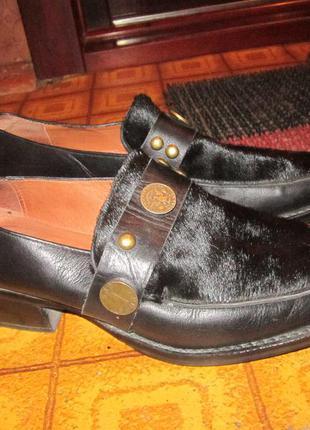 Туфли с мехом пони р 36- 37