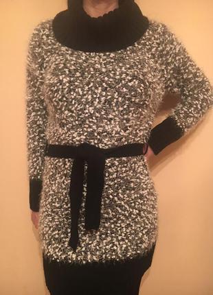Модный вязаный удлиненный  свитер ( туника, платье),  casamia exclusive.