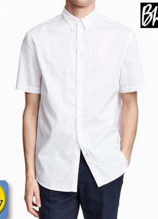 Новые белые школьные рубашки bhs 14 лет, 164 см. сток, для мальчика, с коротким рукавом