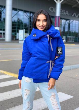 Куртка парка на завязках женская зима