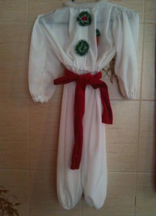 Новорічний костюм сніговичка