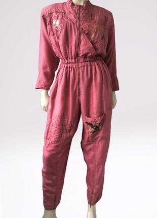 """Очень красивый винтажный шелковый комбинезон бренда  o.t.y.""""s  munich, германия"""