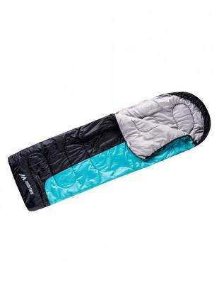 Спальний мішок martes ourens 220 x 75 см чорний з блакитним спальный мешок чёрный