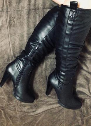 Сапоги зимние каблук