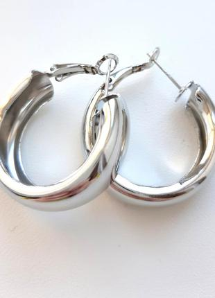 Серьги кольца большие обьемные