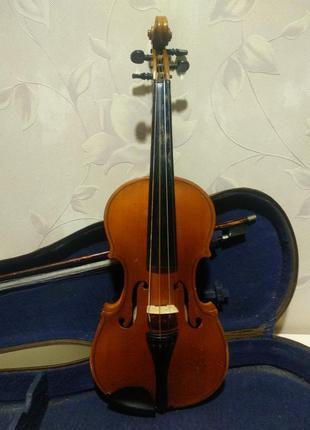 Скрипка 3/4 одесской фабрики в футляре 1964 г.