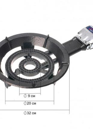 Газовая чугунная плита lone sta 14kв (с пьезоподжигом) 70527