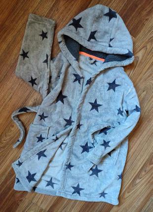 Мягкий плюшевый халат на 7-8 лет