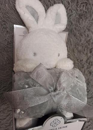 Подарочный набор игрушка и плед в коробке