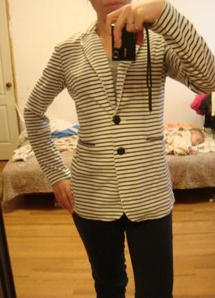 Calliope стильный трикотажный пиджак жакет размер s