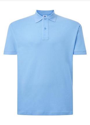 Голубая базовая поло тенниска jhk