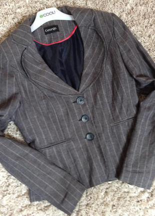 Пиджак, жакет серый, короткий