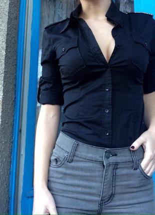 Рубашка базовая хлопок h&m скидка