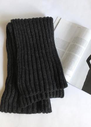Серый тёплый шарф h&m