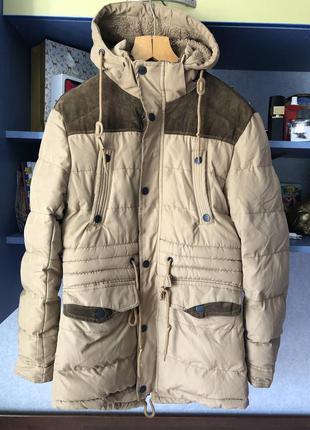 Удлиненная куртка парка мужская зимняя