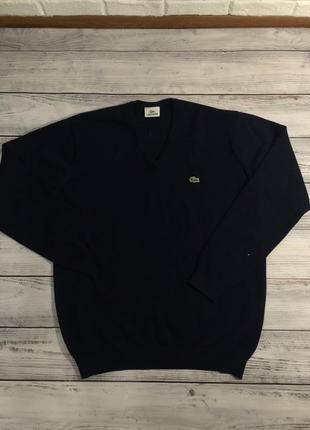 Вязаный свитер джемпер lacoste