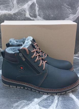 Мужские зимние кожаные ботинки ecco city winter