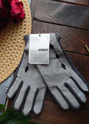 Tom&ross 8 натуральная замша перчатки на большую руку