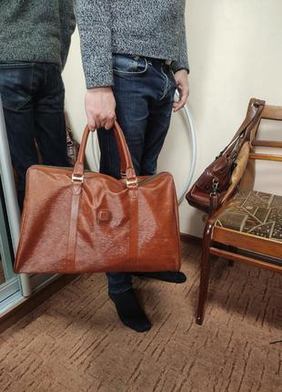 Jjb большая сумка дорожная коричнево рижая