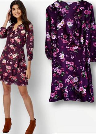 Красивое платье на запах в цветы redherring